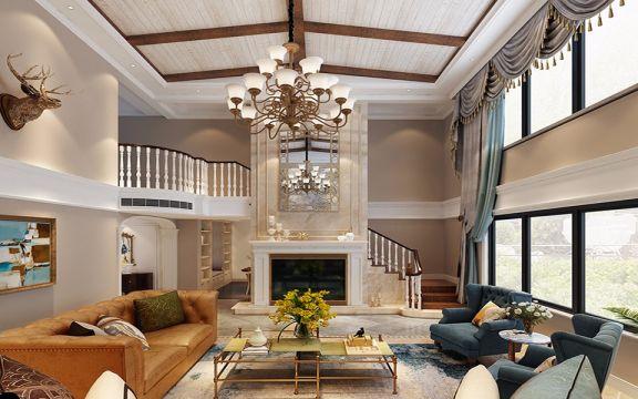 260平米美式风格五室三厅装修效果图