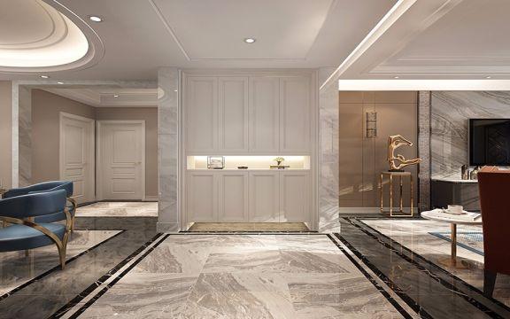 玄关门厅美式风格装潢图片