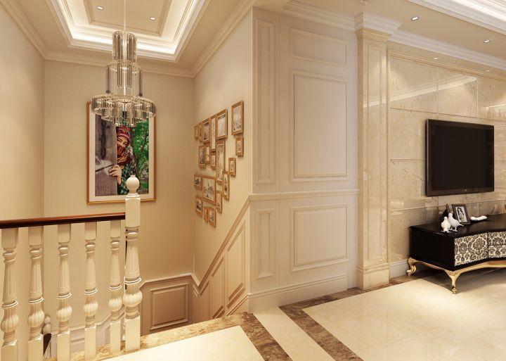 客厅楼梯混搭风格装潢效果图