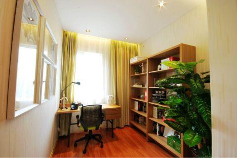 书房书架简约风格装修设计图片