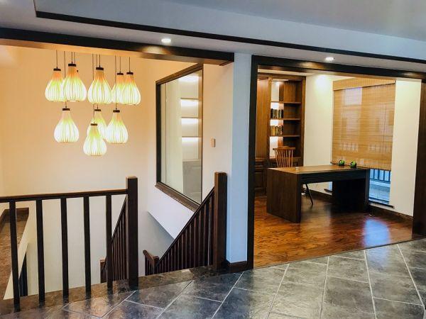 书房走廊新中式风格装修设计图片