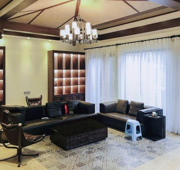 客厅窗帘新中式风格装修效果图