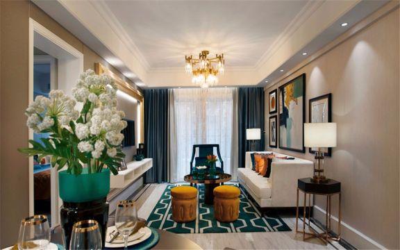 客厅沙发混搭风格装饰设计图片