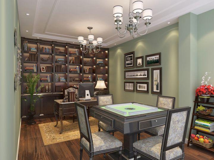 书房美式风格装饰效果图