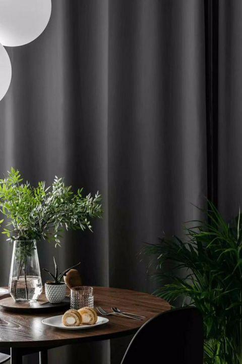 餐厅窗帘北欧风格装潢效果图