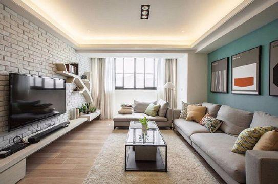 120平北欧风格一室一厅装修效果图