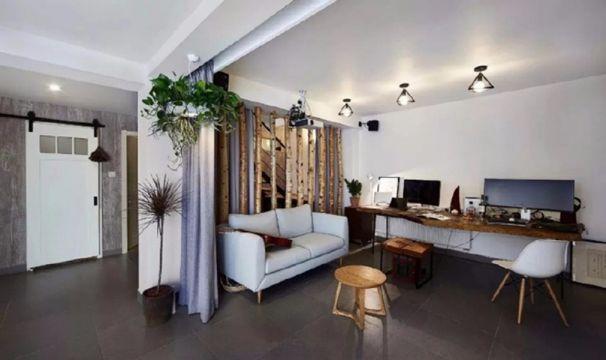 客厅书桌现代简约风格装饰效果图