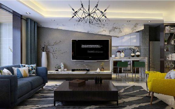 简约风格140平米大户型新房装修效果图