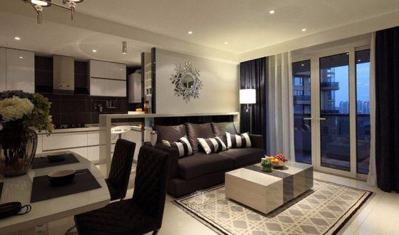 春风与湖现代风格80平二居室装修效果图