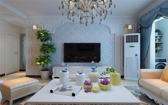 中海国际社区125平三室两厅简欧风格装修效果图
