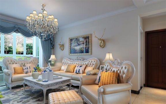 阳台窗帘简欧风格装饰效果图
