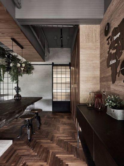 餐厅地板砖后现代风格装饰效果图