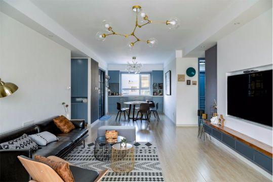 北欧风格88平米两室一厅新房装修效果图