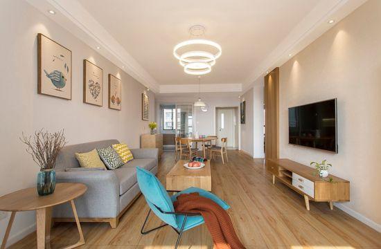 北欧风格88平米三室两厅新房装修效果图