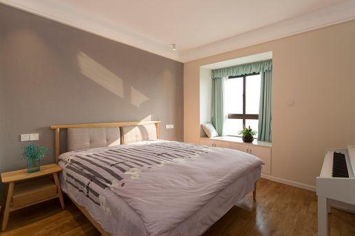 卧室绿色飘窗装饰设计图片