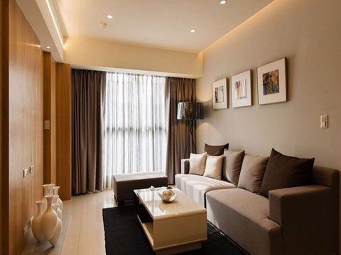现代风格60平米一室一厅新房装修效果图