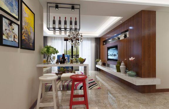 2019现代简约客厅装修设计 2019现代简约吧台效果图
