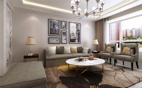 现代简约风格153平米四室两厅新房装修效果图