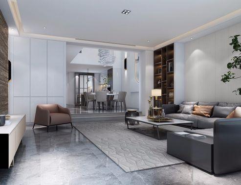 简约风格500平米别墅室内装修效果图
