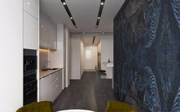 现代简约厨房橱柜装潢效果图