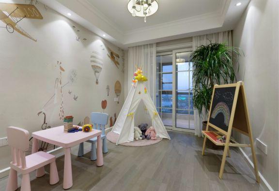 儿童房推拉门现代简约风格装修效果图
