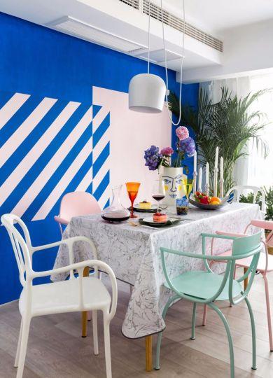 餐厅餐桌混搭风格装饰效果图