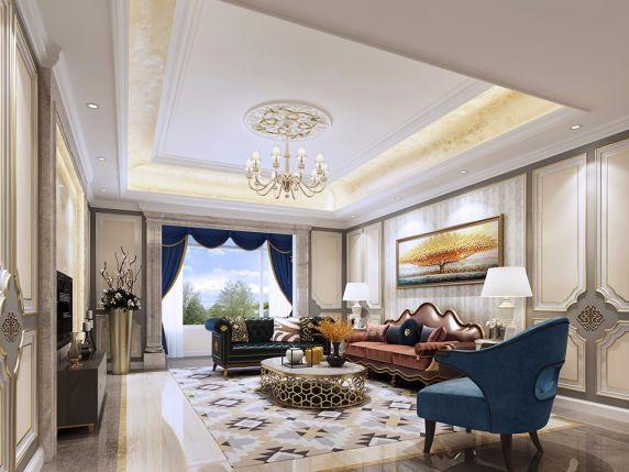 简欧风格300平米别墅室内装修效果图