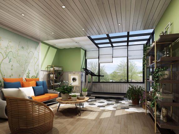 阳台沙发简欧风格装潢图片