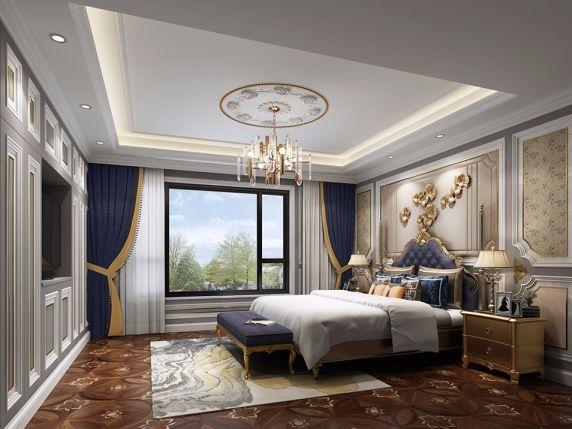 卧室床头柜简欧风格装饰设计图片