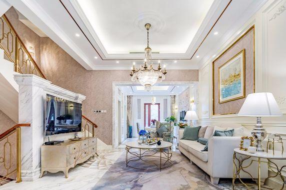 混搭风格320平米别墅室内装修效果图