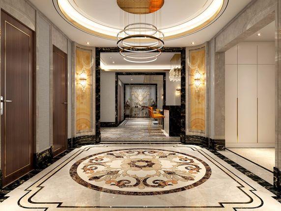 玄关门厅新中式风格装修设计图片