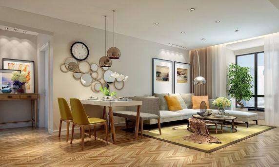 现代简约风格150平米两室两厅新房装修效果图