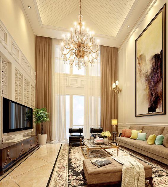 美式风格350平米别墅室内装修效果图