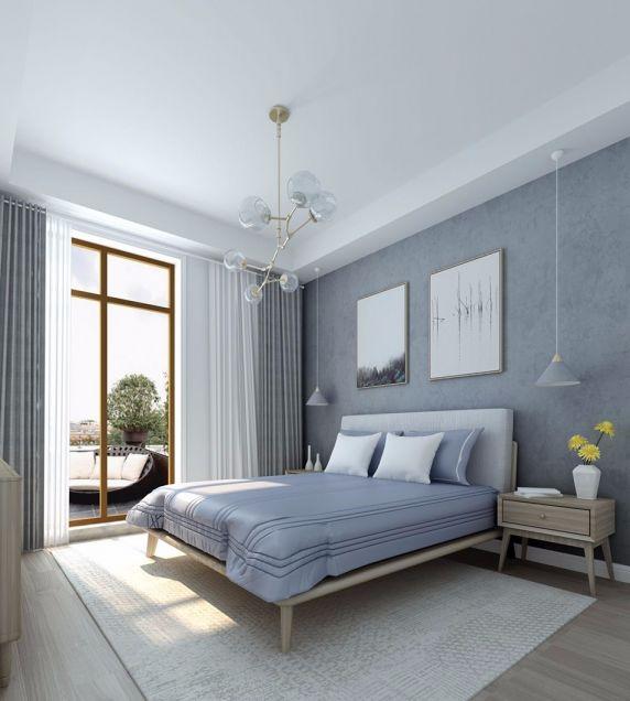 卧室照片墙北欧风格效果图
