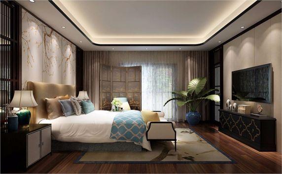 卧室床新中式风格装修图片