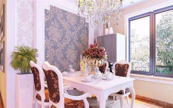 餐厅餐桌简欧风格装潢图片