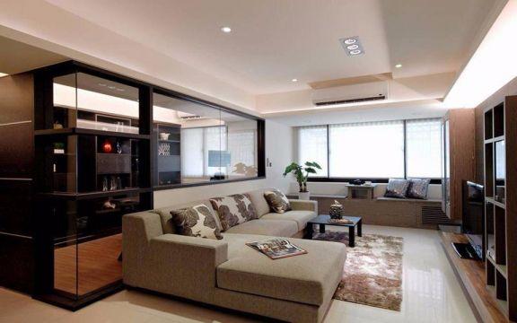 金地天逸89平米现代风格二居装修效果图