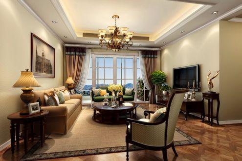 信和御龙山160平四居室美式风格装修效果图