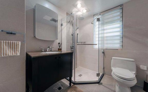 卫生间地板砖现代风格装潢设计图片