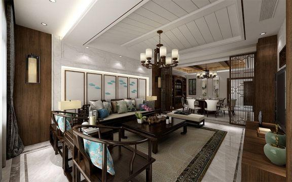 240平米新中式风格五室三厅三卫装修效果图