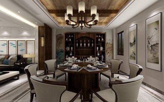 餐厅灯具新中式风格装饰图片