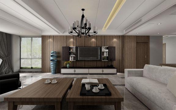 现代风格300平米别墅室内装修效果图
