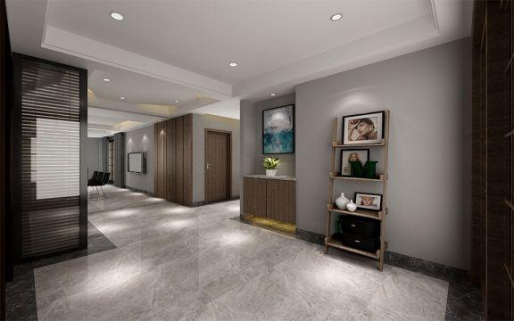 玄关走廊现代风格装潢设计图片