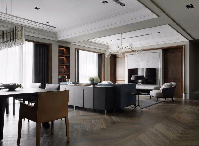 简约风格225平米大户型室内装修效果图