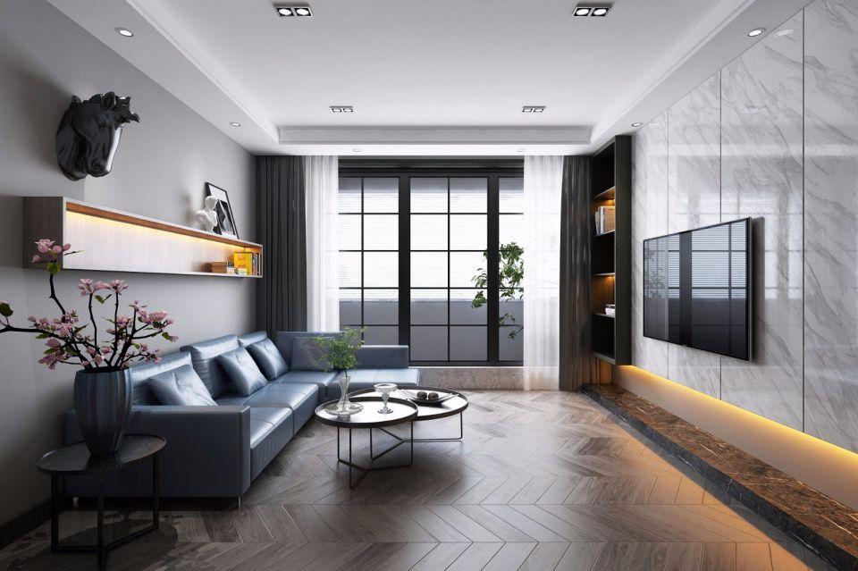 现代风格140平米三室两厅室内装修效果图