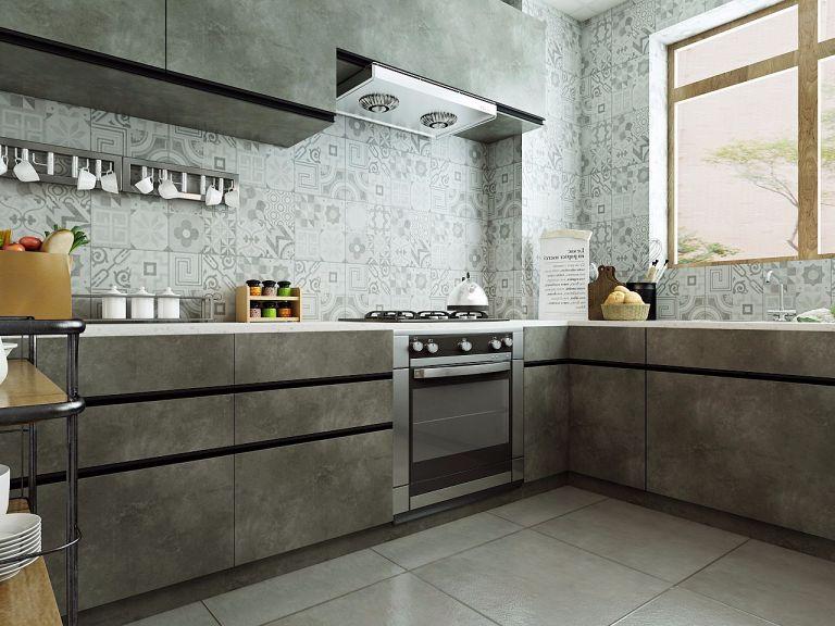 厨房地砖美式风格效果图