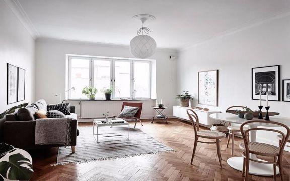 北欧风格89平米三室两厅室内装修效果图