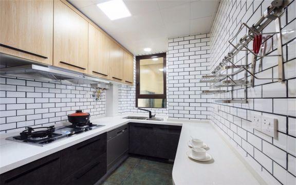 厨房背景墙北欧风格装潢效果图