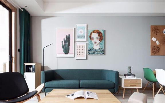 北欧风格100平米小户型室内装修效果图