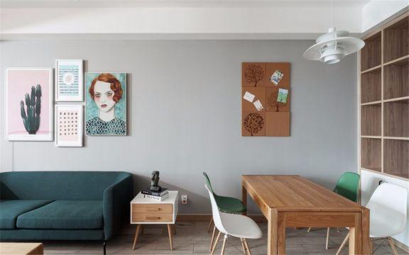 餐厅吊顶北欧风格装潢图片